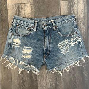 Levi's denim distressed cutoff shorts size 30